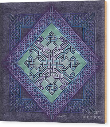 Wood Print featuring the mixed media Celtic Avant Garde by Kristen Fox