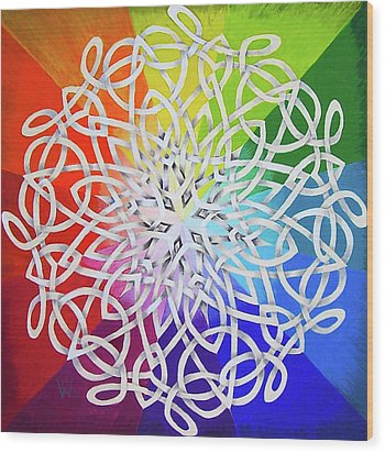 Celtic Color Interlaced 1 Wood Print