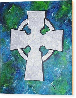 Celtic Cross Wood Print by Bo Klinge