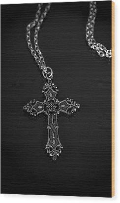 Celtic Cross Wood Print by Joana Kruse