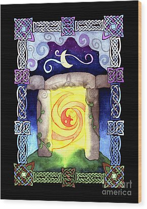 Wood Print featuring the painting Celtic Doorway by Kristen Fox