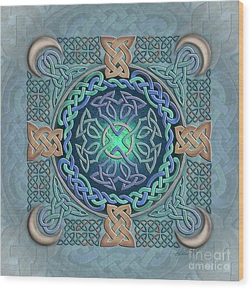 Wood Print featuring the mixed media Celtic Eye Of The World by Kristen Fox