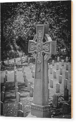 Celtic Grave Wood Print