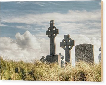Celtic Grave Markers Wood Print