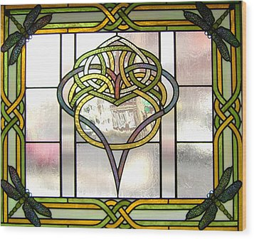 Celtic Heart Wood Print by Jane Croteau