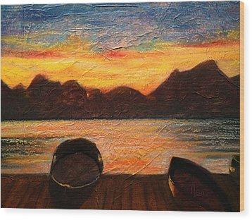 Celtic Sunset Wood Print