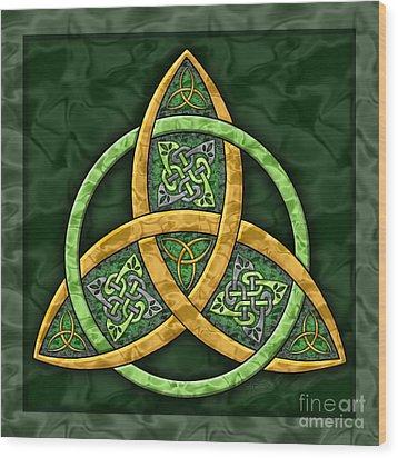 Celtic Trinity Knot Wood Print by Kristen Fox