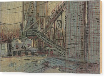 Cement Company Wood Print by Donald Maier