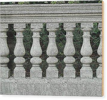 Cement Fence Wood Print by Nilla Haluska