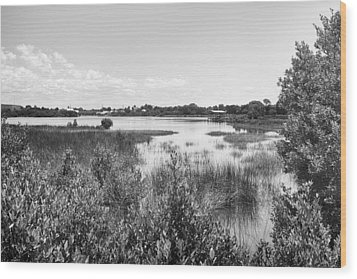 Wood Print featuring the photograph Cemetary Point Boardwalk by Howard Salmon