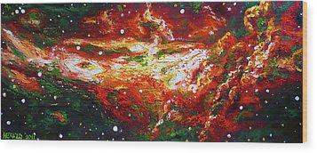 Centaurus Wood Print by Ericka Herazo