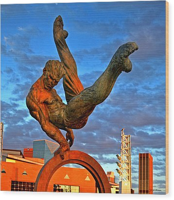 Centennial Park Statue 001 Wood Print by George Bostian