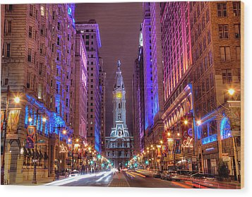 Center City Philadelphia Wood Print by Eric Bowers Photo