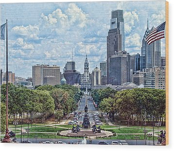 Center City Philly Wood Print by Kevin  Sherf