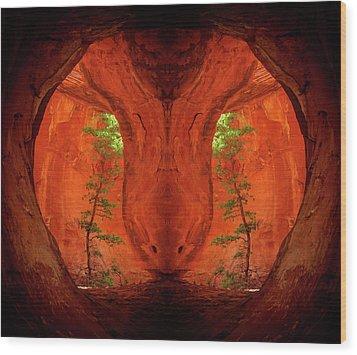 Center Column Wood Print by Scott McAllister