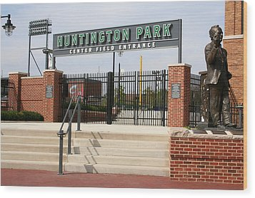 Center Field Entrance At Huntington Park  Wood Print by Laurel Talabere
