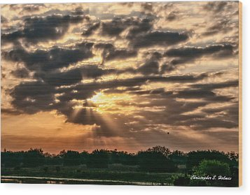Wood Print featuring the photograph Central Florida Sunrise by Christopher Holmes