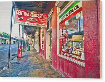 Central Grocery And Deli In The French Quarter Wood Print