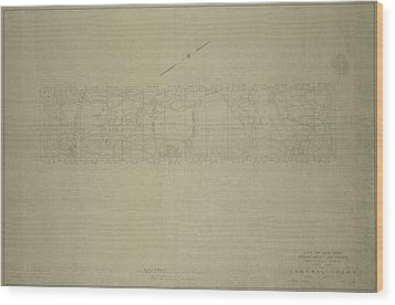 Wood Print featuring the photograph Central Park City Of New York Department Of Parks Map 1934 by Duncan Pearson