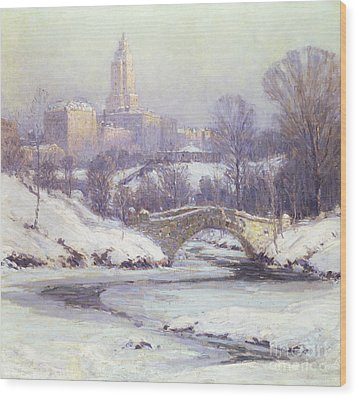 Central Park Wood Print by Colin Campbell Cooper