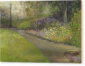 Central Park Wood Print by Jennifer Lommers