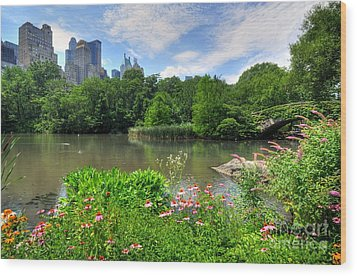 Central Park Wood Print by Kelly Wade
