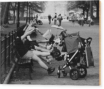 Central Park New York City Wood Print by Mark Ashkenazi