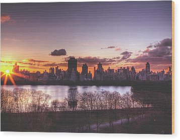 Central Park Rises Wood Print by Ariane Moshayedi