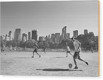 Central Park Wood Print by Robert Lacy