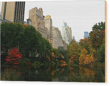 Central Park South Wood Print by Christopher Kirby