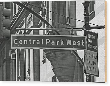 Central Park West Wood Print by Sharla Gentile