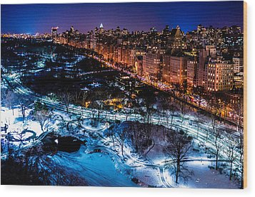 Wood Print featuring the photograph Central Park by M G Whittingham