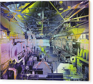 Wood Print featuring the photograph Grunge Central Power Station by Robert G Kernodle