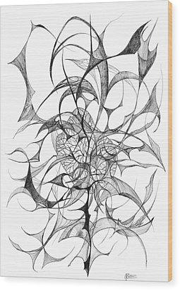 Centred Wood Print by Charles Cater