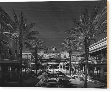 Wood Print featuring the photograph Centro Ybor Bw by Marvin Spates