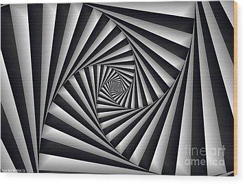 Centrolinear 2 Wood Print