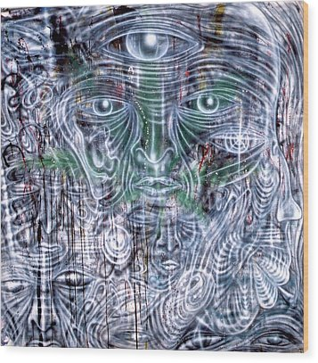 Cephalic Carnage Wood Print by Leigh Odom