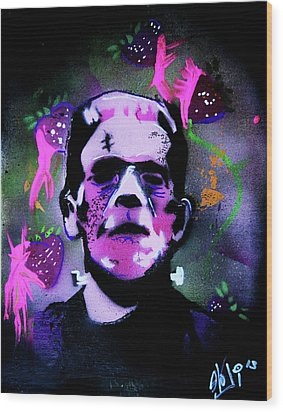 Cereal Killers - Frankenberry Wood Print by eVol i