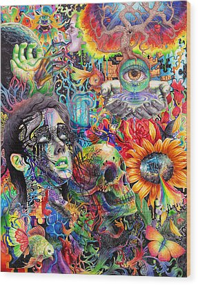 Cerebral Dysfunction Wood Print by Callie Fink