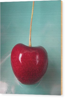 Cerise Wood Print by Lindie Racz