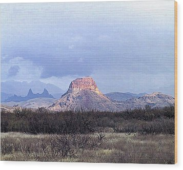 Wood Print featuring the painting Cerro Castellan And Mule Ears  by Dennis Ciscel