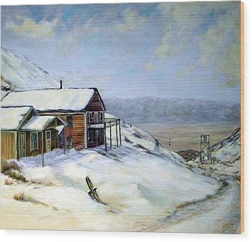 Cerro Gordo California Wood Print by Evelyne Boynton Grierson