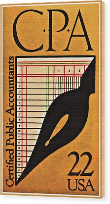 Certified Public Accounting Issue Wood Print