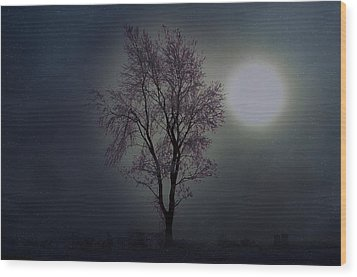 Cerulean Sunrise On Ice Wood Print by The Stone Age