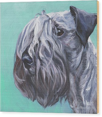 Wood Print featuring the painting Cesky Terrier by Lee Ann Shepard
