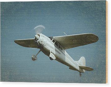 Wood Print featuring the photograph Cessna 195 by James Barber