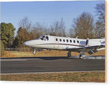 Cessna Citation Touchdown Wood Print