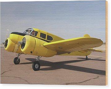Cessna T-50 Bobcat N59188 Casa Grande Airport Arizona March 5 2011 Wood Print by Brian Lockett