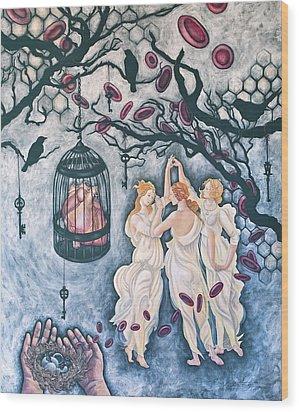 Cette Vie Est Sacree Wood Print by Sheri Howe