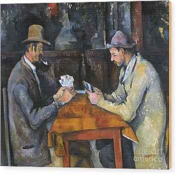 Cezanne: Card Player, C1892 Wood Print by Granger